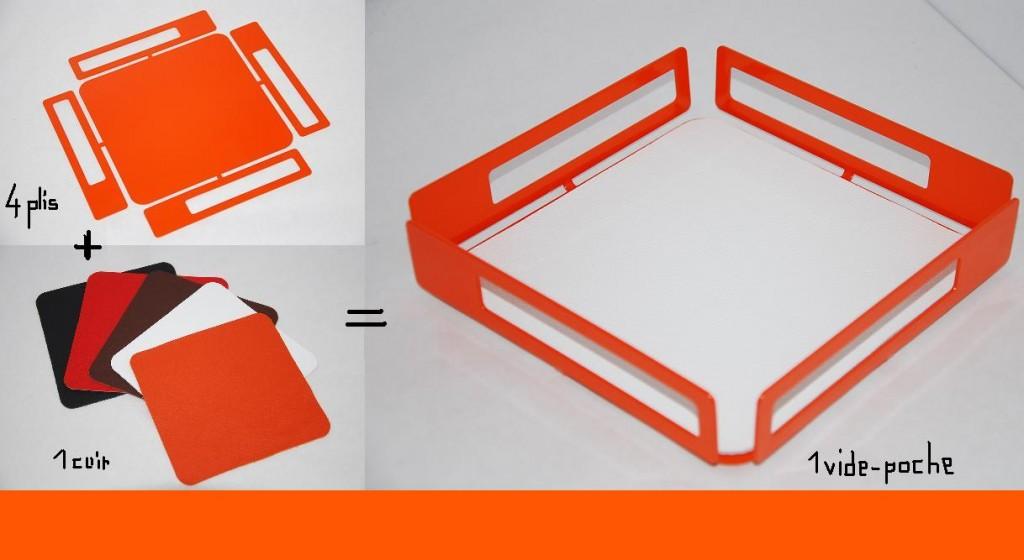 fenel arno steel et design vide poche. Black Bedroom Furniture Sets. Home Design Ideas