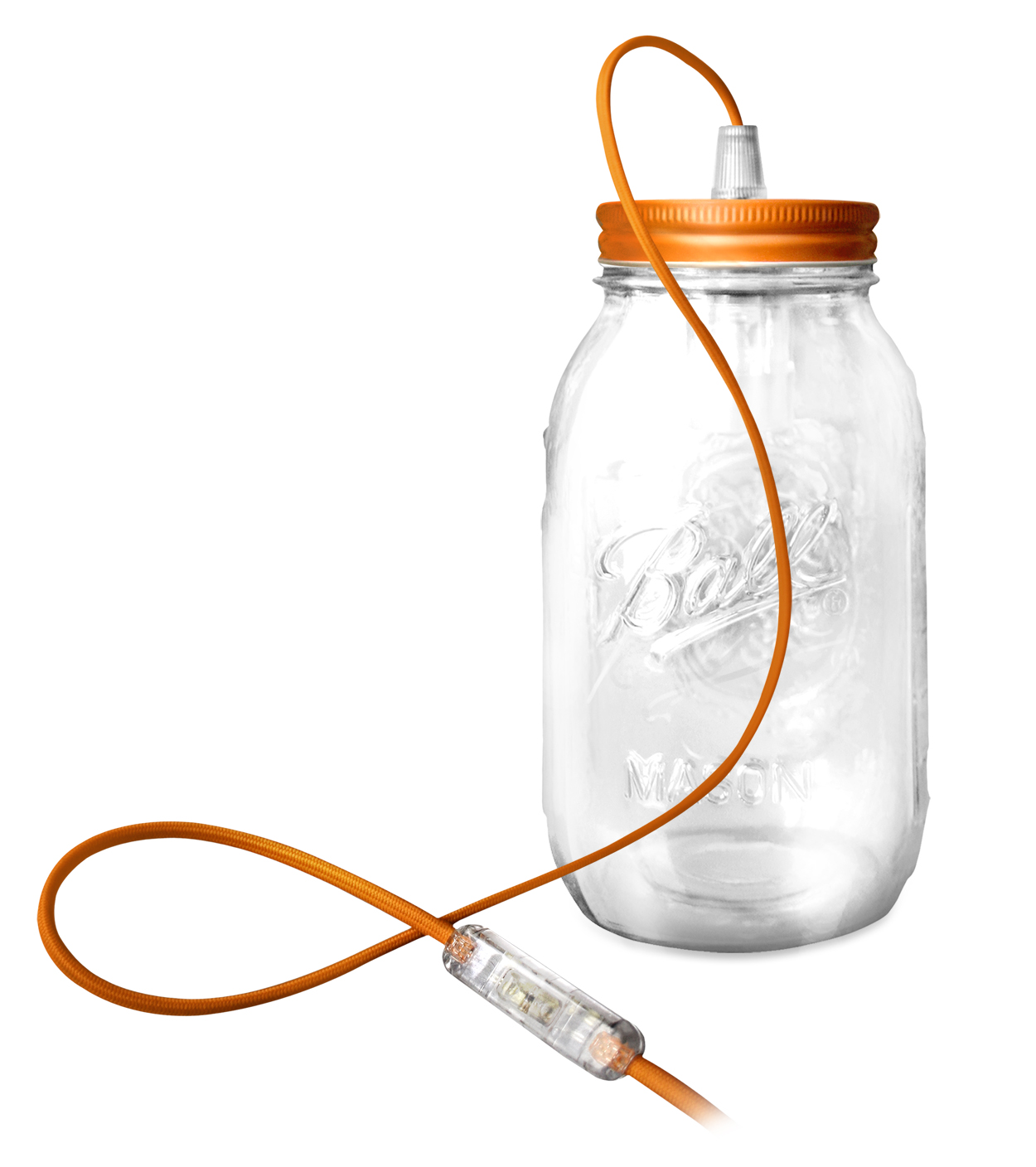 lampe a poser ball mason jar par fenel & arno Orange